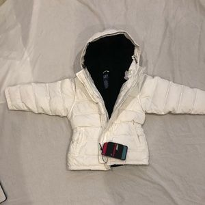 NWT Gap Kids White Hooded Puffer Parka Coat